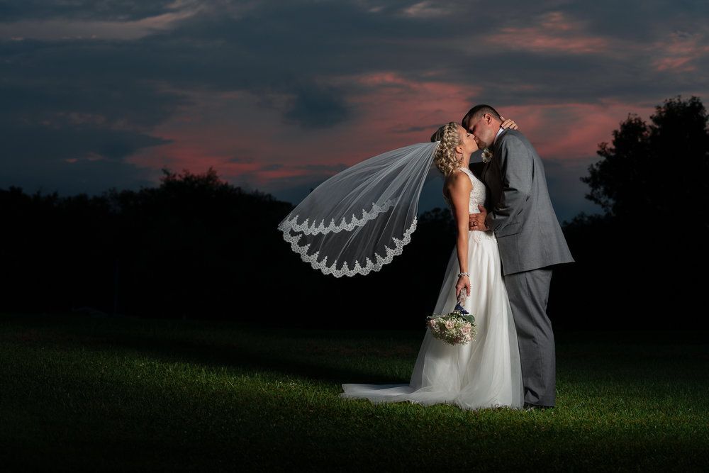 Our favorite sunset Wedding photo of 2018. The wedding was held at the Groom's family home in LIttlestown, PA