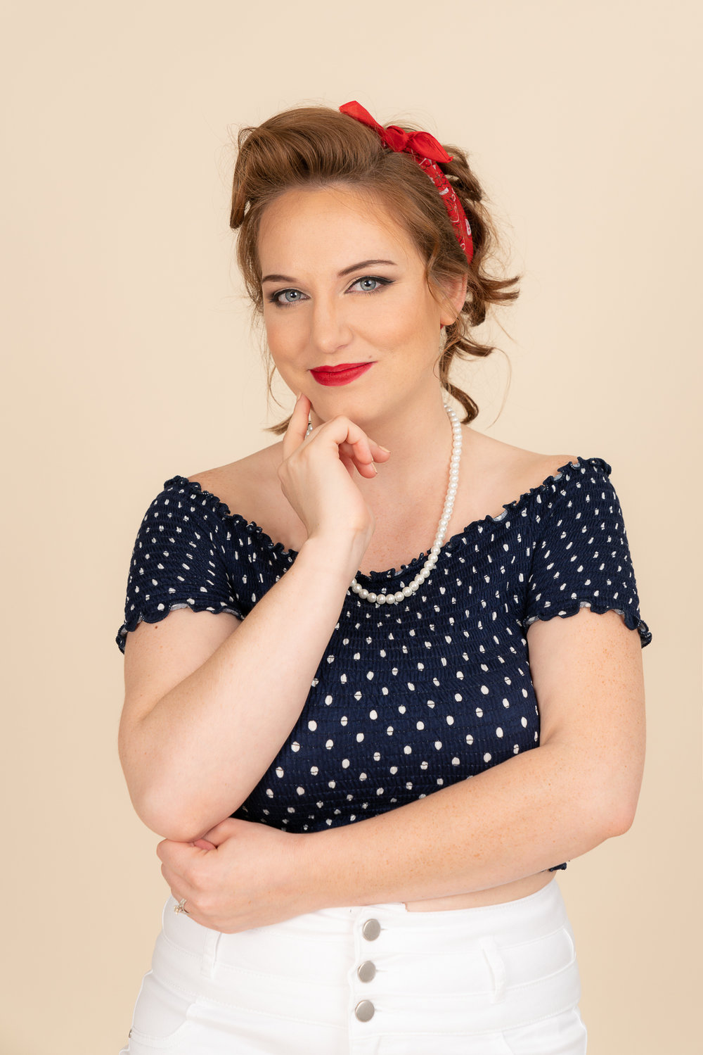 Pin-up themed Portrait Session of one of our Brides that she did as a surprise gift for her husband-to-be!