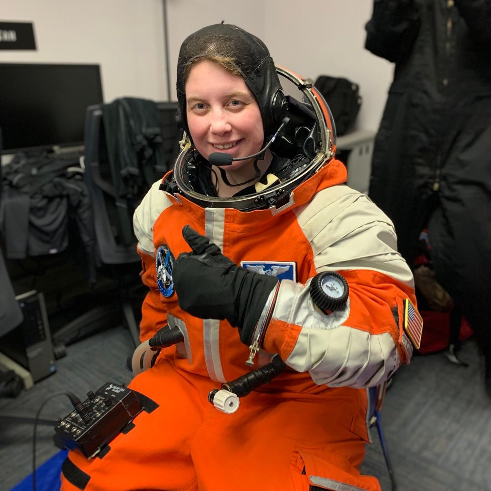 Megan Kane in Final Frontier Design Space Suit