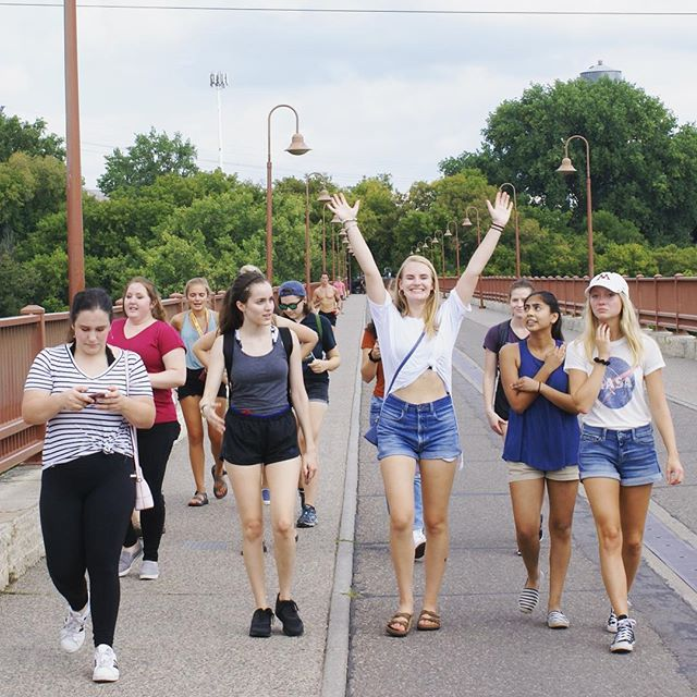 SWE members walked across the Stone Arch Bridge to @izzysicecream on Friday and were rewarded with fantastic ice cream and cool air conditioning!