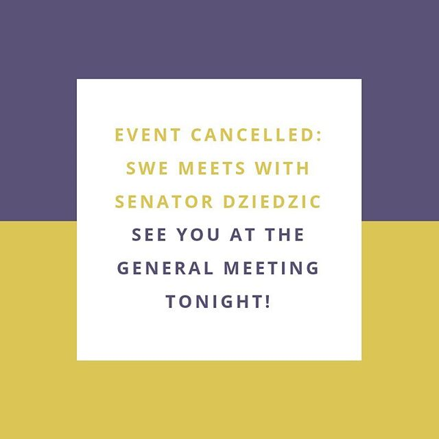 Due to unforeseen circumstances, today's event with Senator Dziedzic has been cancelled.  We will see you all at our general meeting TONIGHT in BruH 220 at 6pm, sponsored by @cargill!