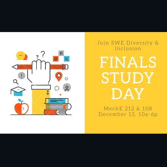 Need a place to relax during Study Day? Or just a place you know you don't have to look for a seat? Join D&I for Finals Study day! The rooms are booked the whole day, and you can come and go as you please. There will be a quiet study room and a room for relaxing (coloring, music, etc), so there will be plenty of space for you and your friends to come prepare for finals!