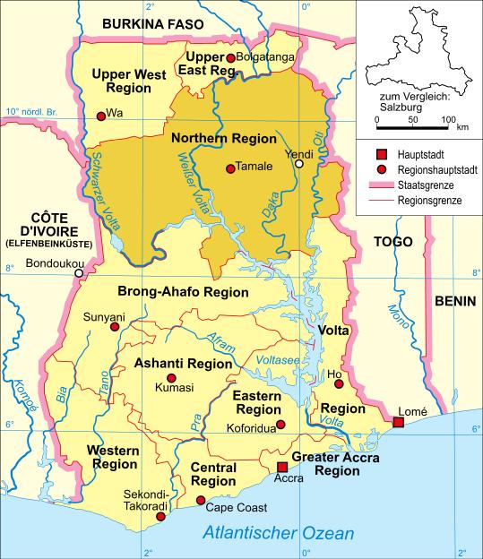 Northern Region Highlighted