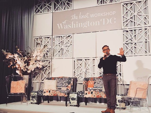 Spent the day in D.C. with @theknot and got to hear from the incredible @bryanrafanelli of @rafanellievents ☺