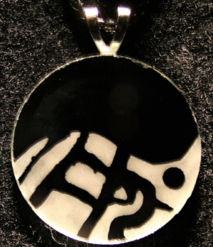Finished Example: - Round Mirror Pendant using