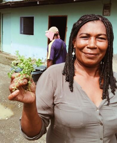 DAISY PALACIOS:    Traditional midwife and medicinal plants expert   Partera tradicional y experta en plantas medicinales