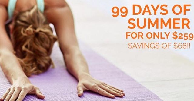 Our 99 days of summer is HERE! 🌞🌞 Get your 99 days of UNLIMITED classes for only $259! Visit our website by clicking the link in the bio to get yours now!!