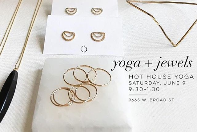 @sunandselene will be showcasing their lineup of exclusive jewels and charmers on Saturday at our West End studio! Come check them out between 9:30-1:30 ✨