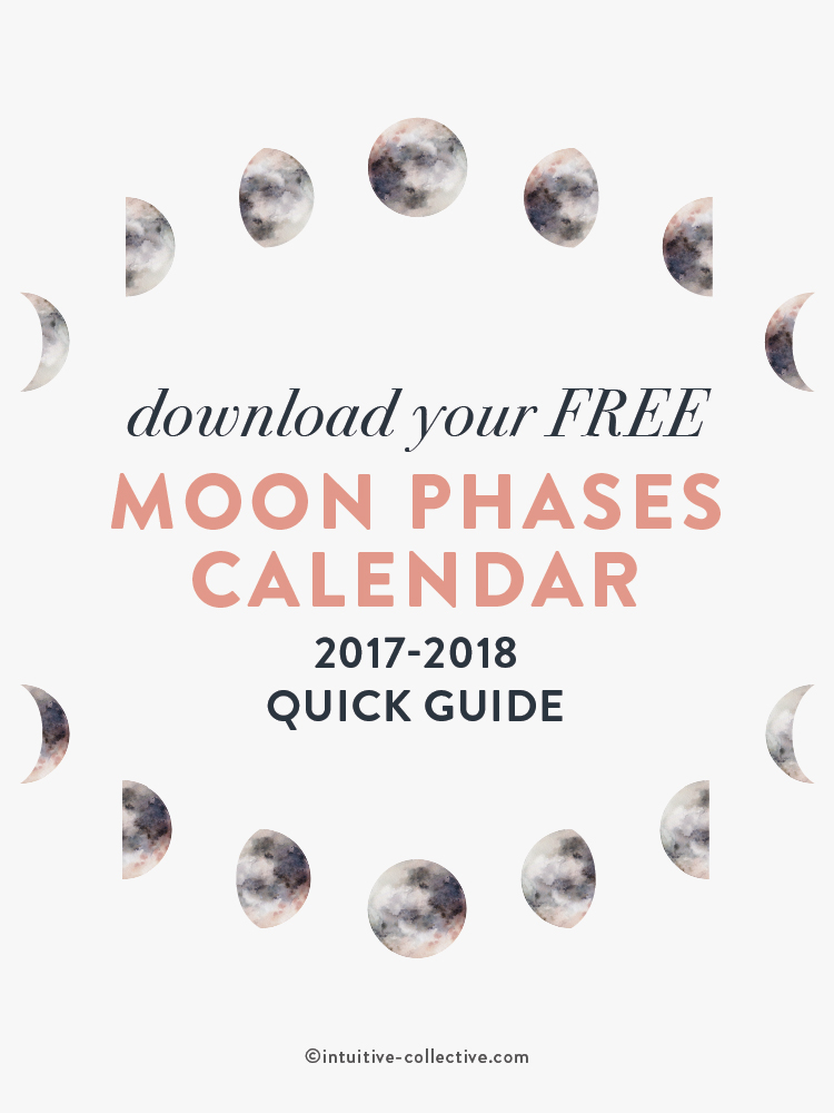 Free 2017 2018 Moon Phases Calendar Quick Guide (updated to only