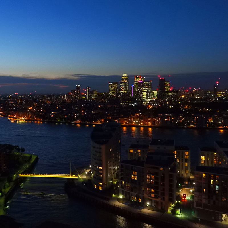 Canary Wharf from Deptford
