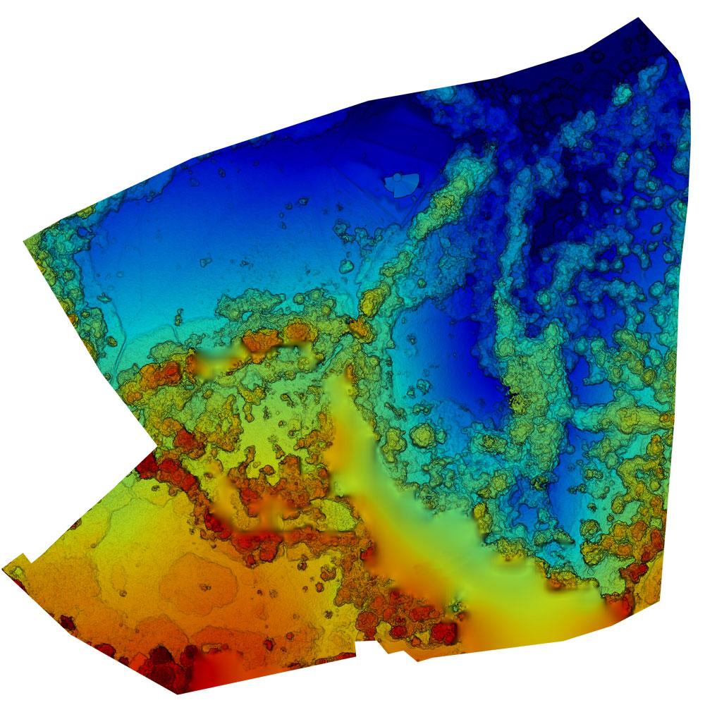 Survey Drone Elevation Map