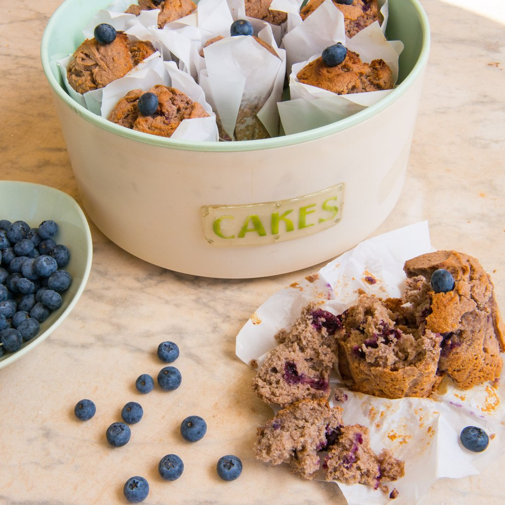 Made with a blend largely comprised of nutrient dense Buckwheat flour and Bibba fruit sweetener – our muffins are a fibre punch to say the least. Muffins need to be eaten in around 2 days (sugar is an amazing preservative and without it and all the other additives, food simply doesn't last long. Period). However the muffins freeze & reheat well (they take about 8 – 10 mins in a pre-warmed oven).