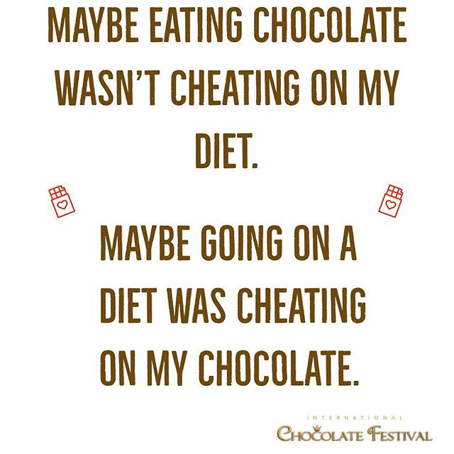 No cheating on your chocolate this weekend!
