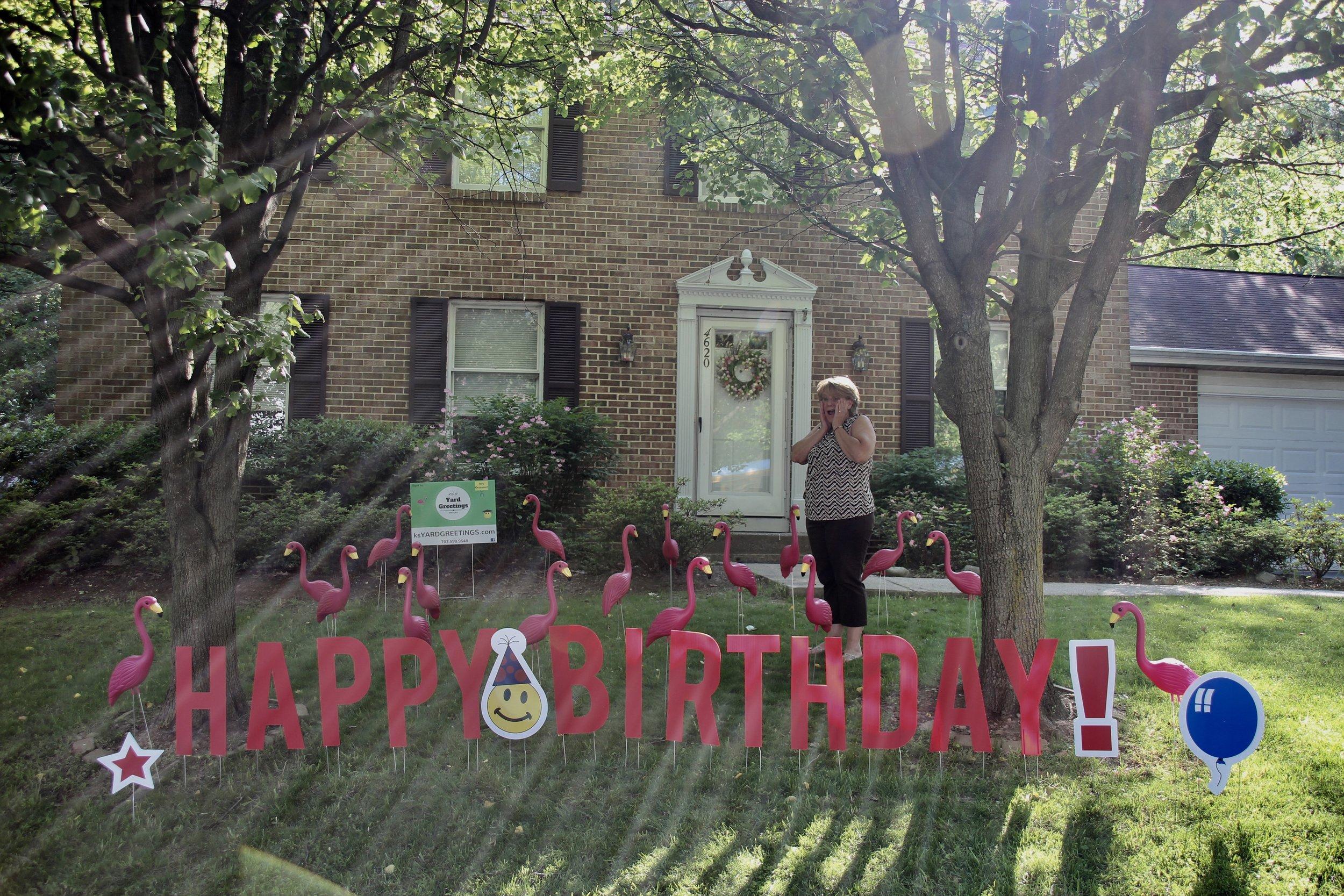 Happy Birthday Lawn Letters