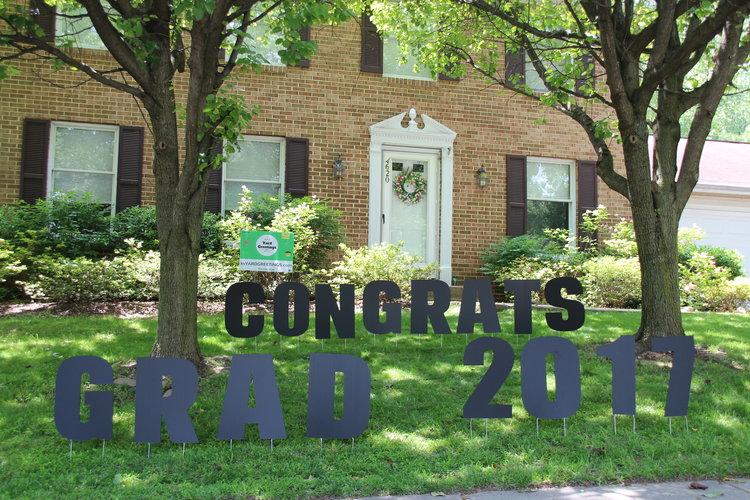 Birthday Lawn Letters Congrat Grad 2017