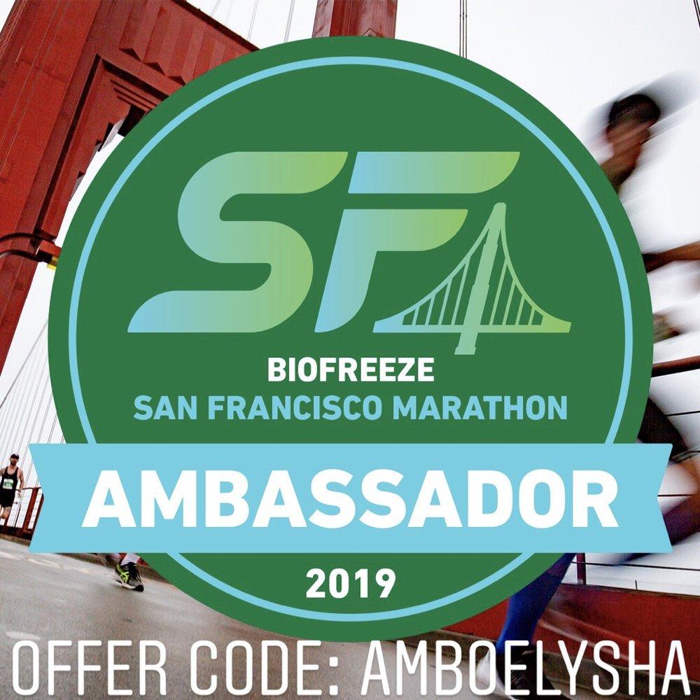 San Francisco Marathon Promo Code: AMBOELYSHA
