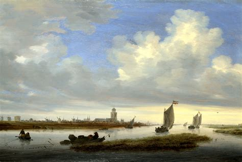 """Solomon Van Ruysdael. """"Vista de Deventer desde el noroeste"""" (1657)."""