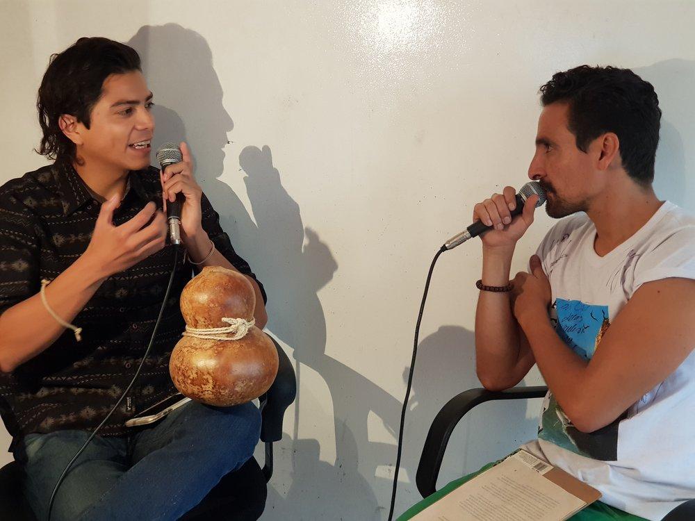 La actriz mexicana Ximena Ayala con Enrique Cervantes