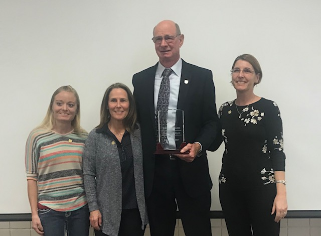 Ben Davidson is inducted into the UATA Hall of Fame. Picture with him is (left to right) Corinne Nyman, Lisa Walker, Valerie Herzog.