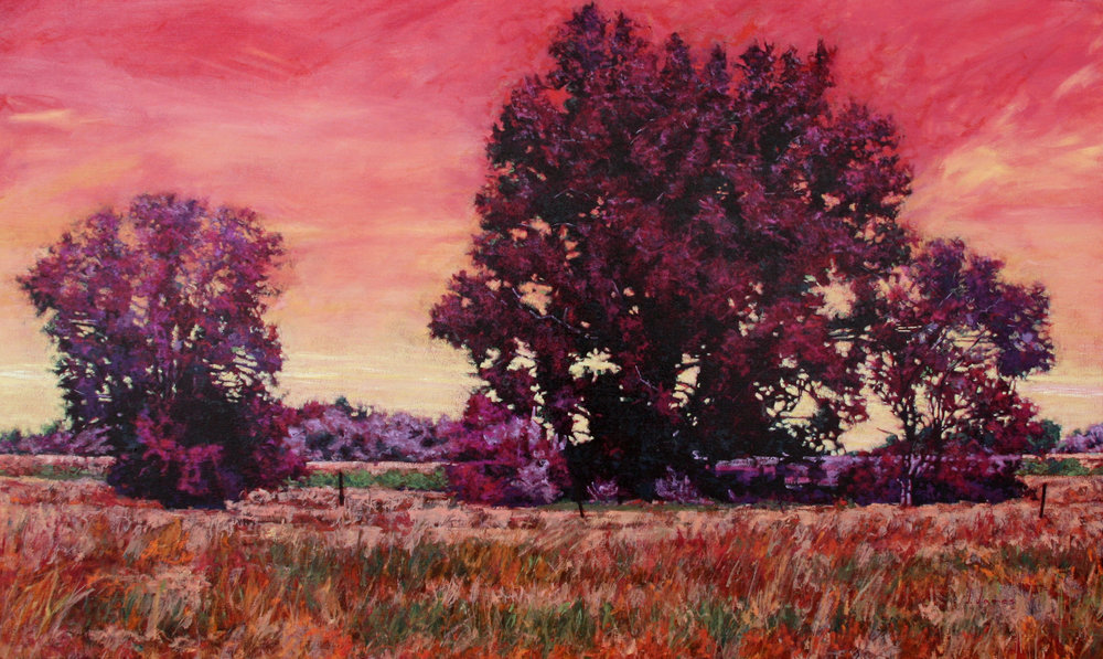 "Evening's Bliss, 36"" x 60"" Oil on Canvas"