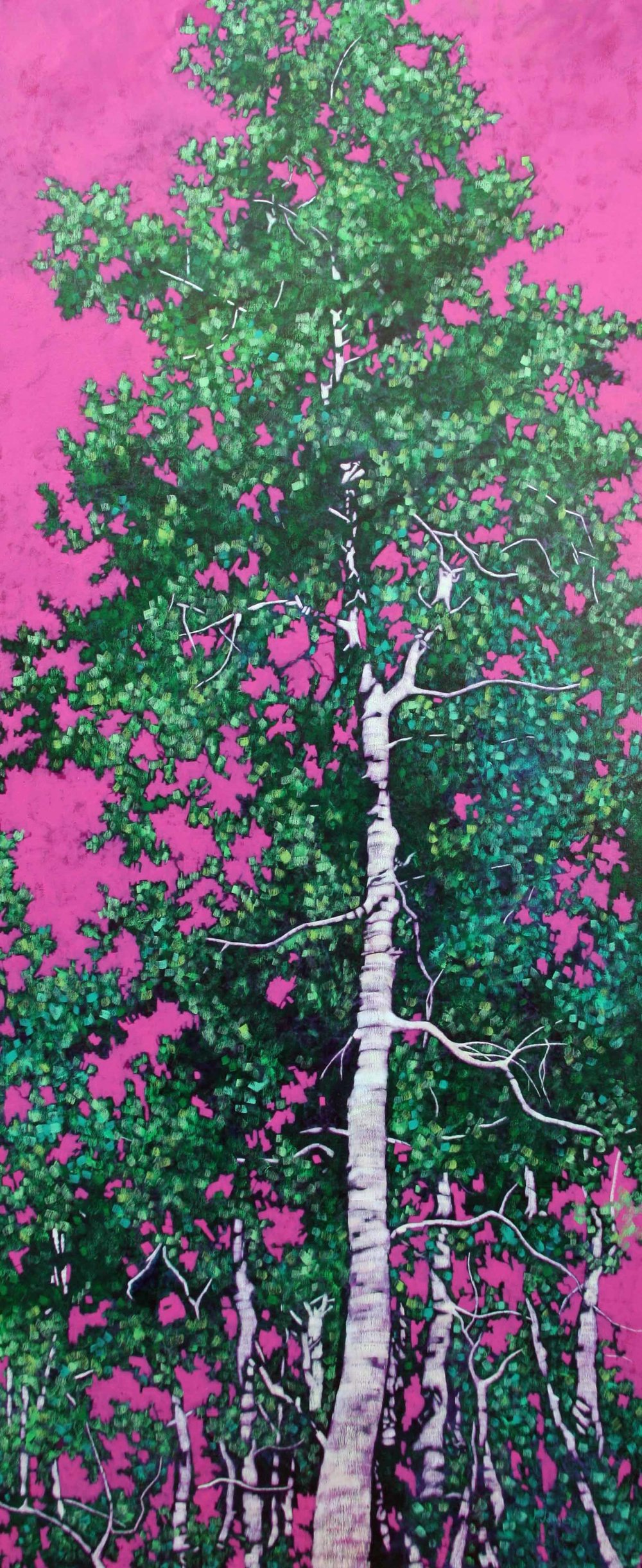 "In The Green, 72"" x 30"" Oil on Canvas"