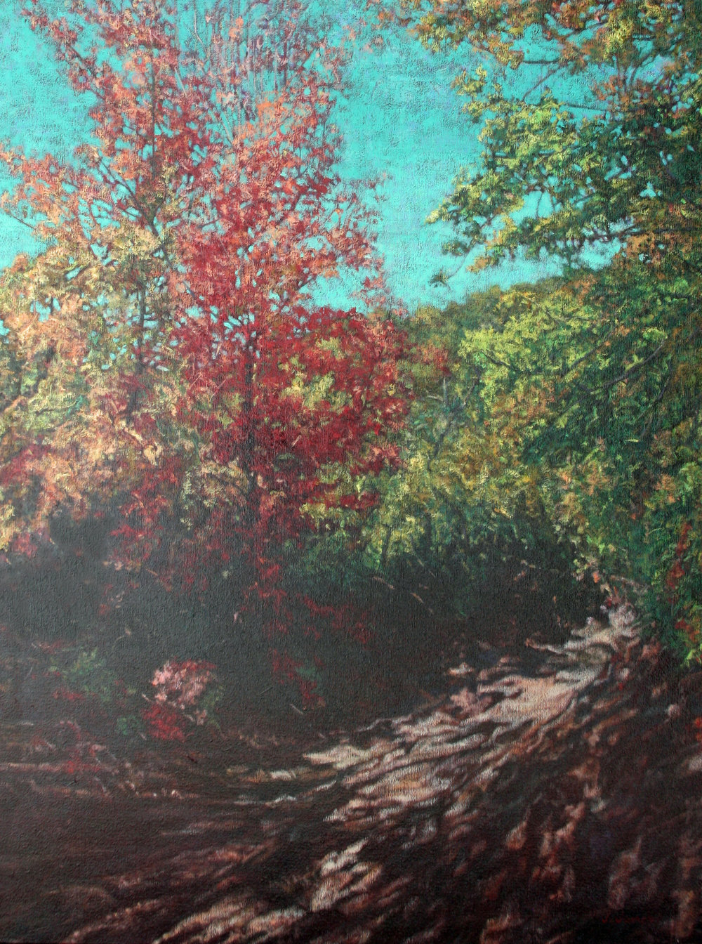 "Burch Hollow, 40"" x 30"" Oil on Canvas"