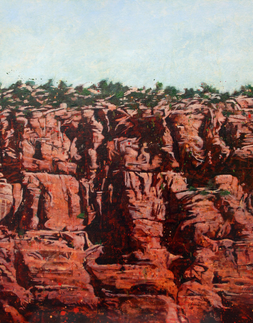 "Peace In The Canyon, 30"" x 24"" Oil on Canvas"