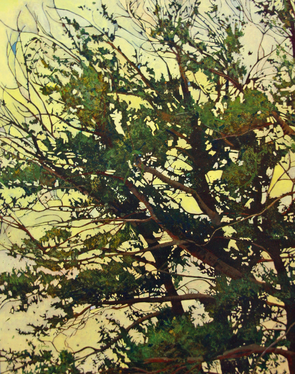 "Giving Tree, 30"" x 24"" Oil on Canvas"