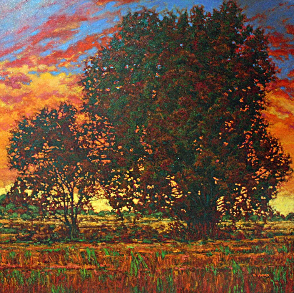"Indian Summer, 48"" x 48"" Oil on Canvas"