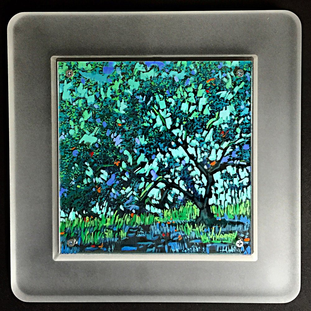 "Shade, 8"" x 8"" Acrylic on Multi-Layered Acrylic Glass"
