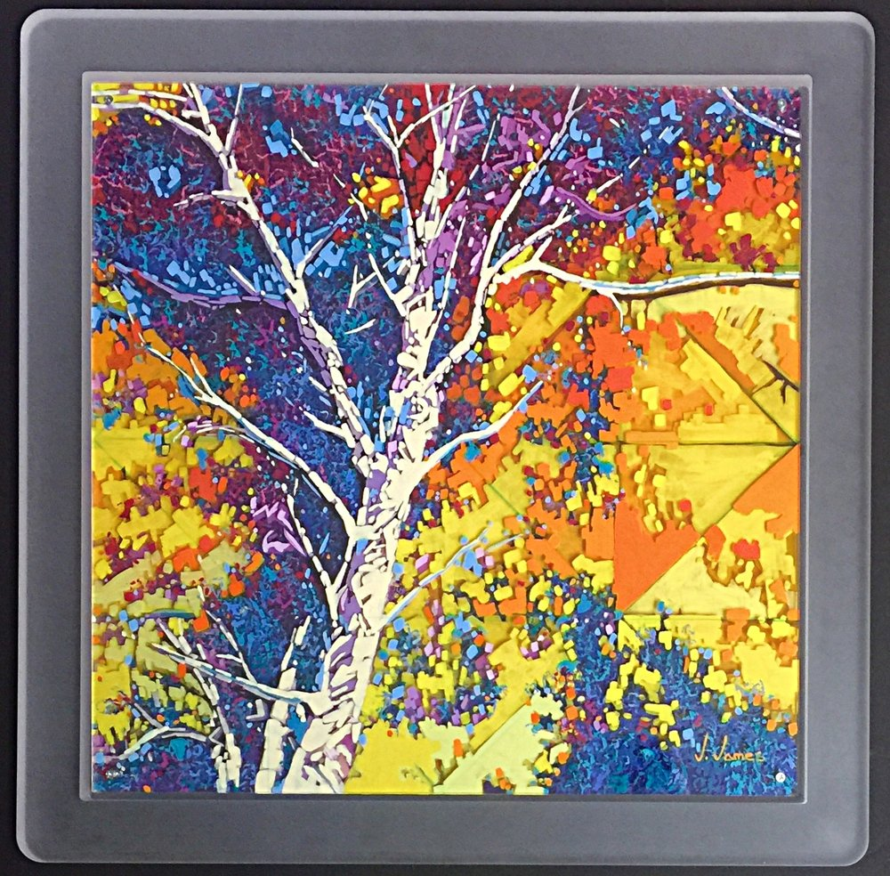"House Of The Rising Sun, 20"" x 20"" Acrylic on Multi-Layered Acrylic Glass"