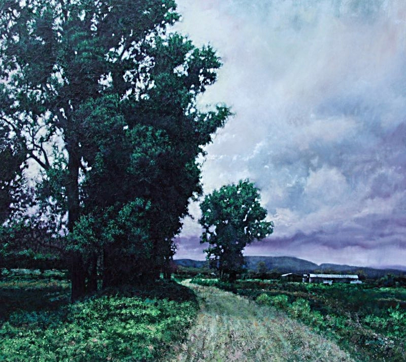 "Country Road, 48"" x 54"" Oil on Canvas"