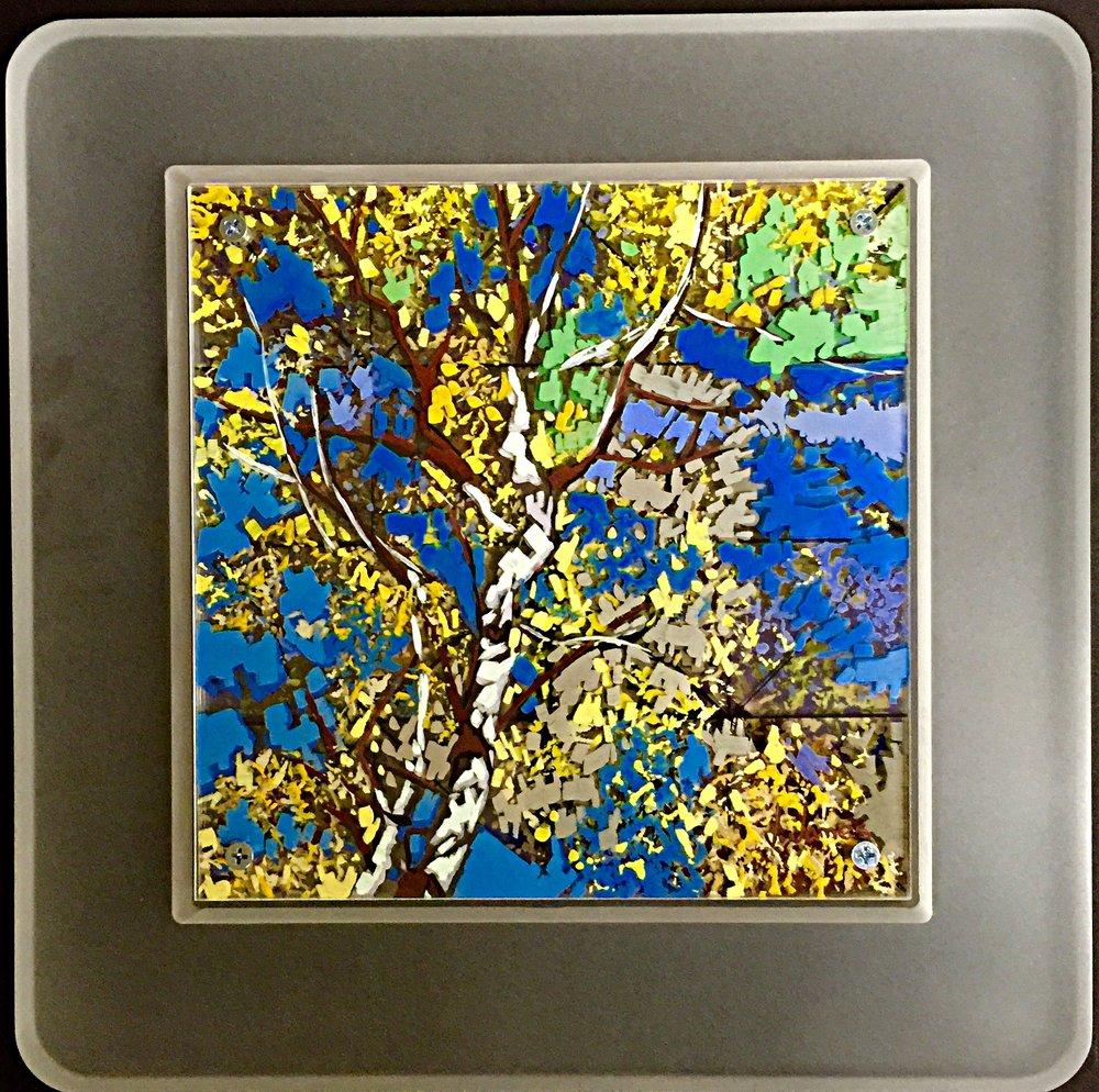 "Listen To The Wind, 8"" x 8"" Acrylic on Multi-Panel Acrylic Glass"
