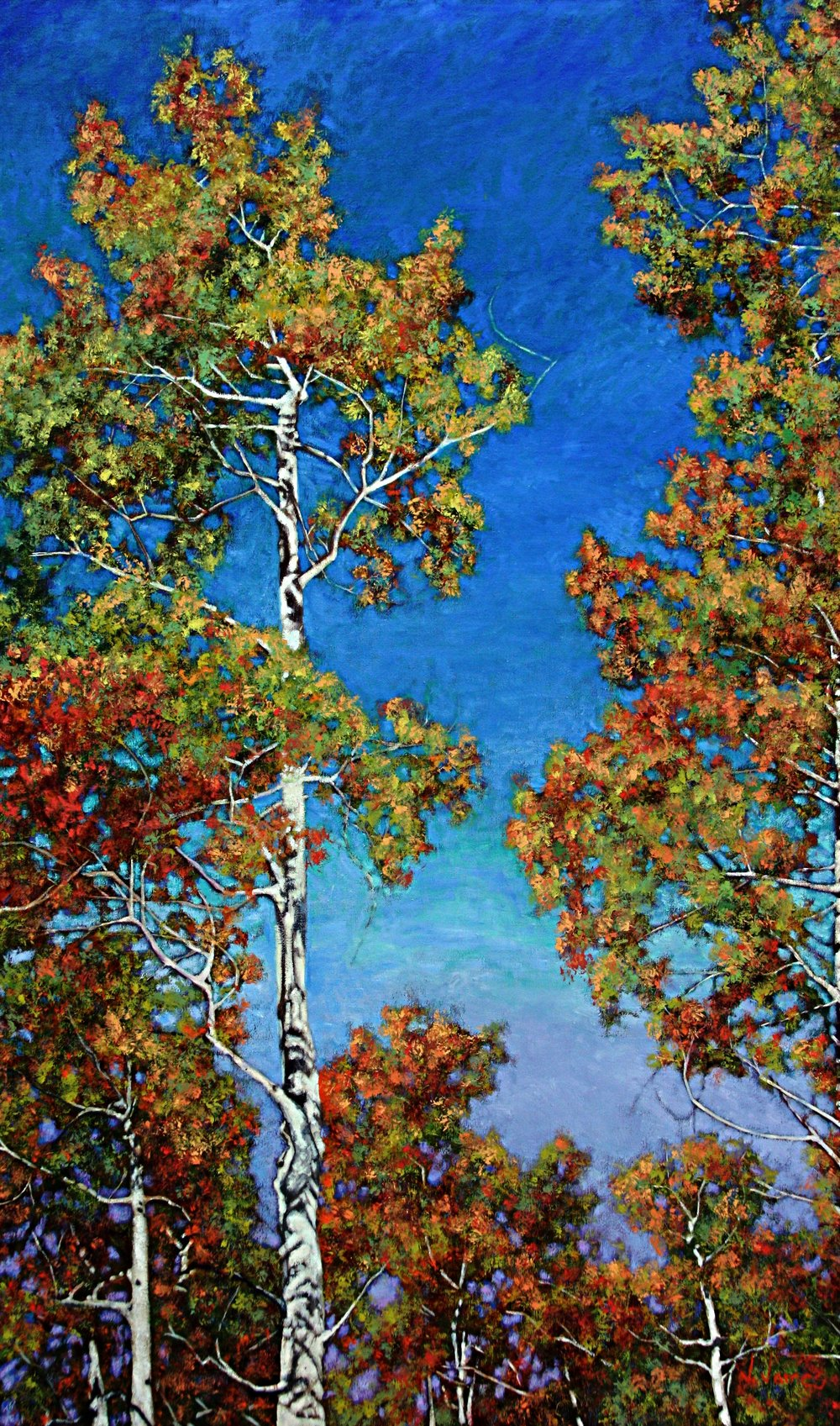 """Advice From A Tree, 60"""" x 36"""" Oil on Canvas"""