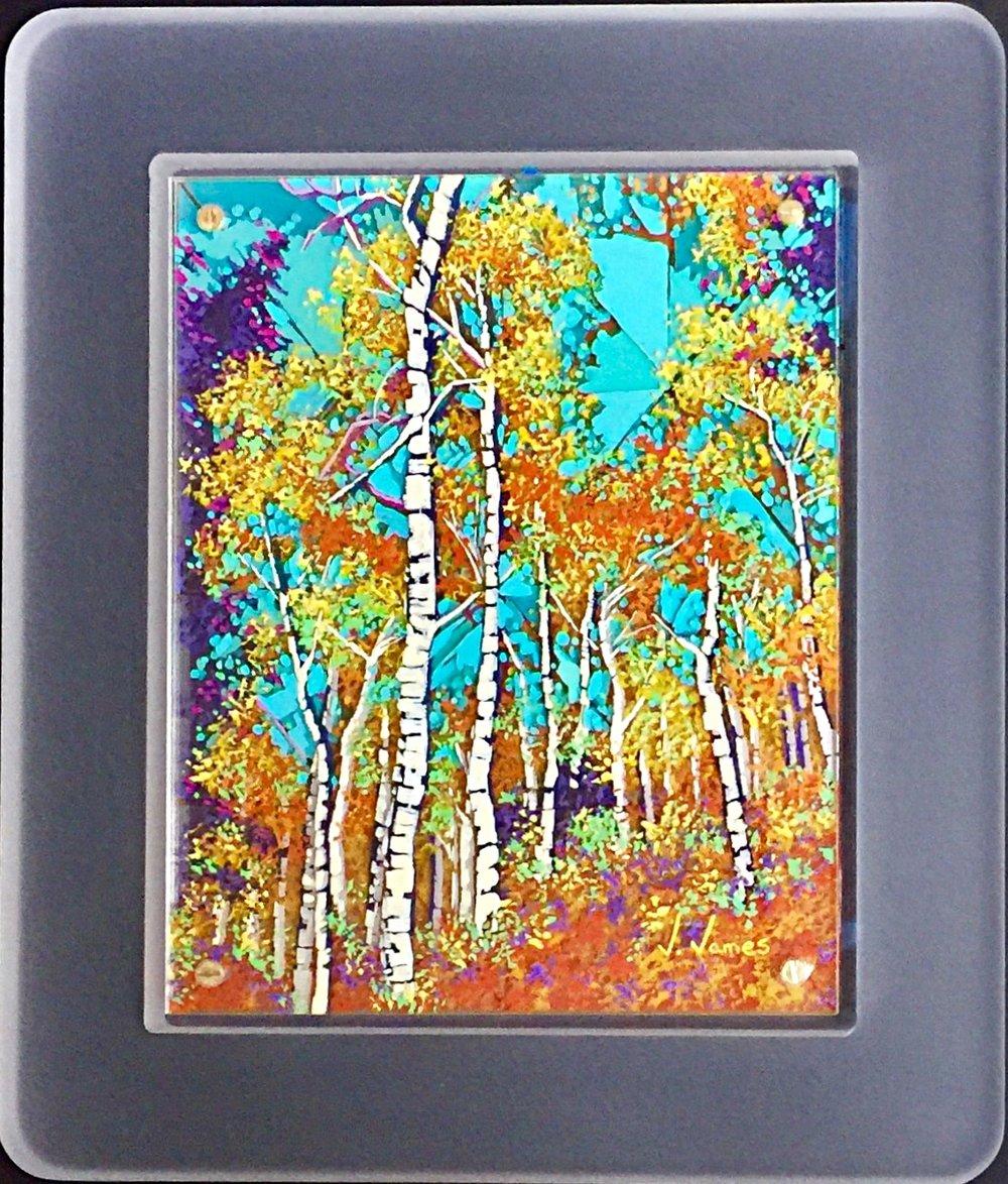 "Summer Grove, 10"" x 8"" Acrylic on Multi-Layered Acrylic Glass"