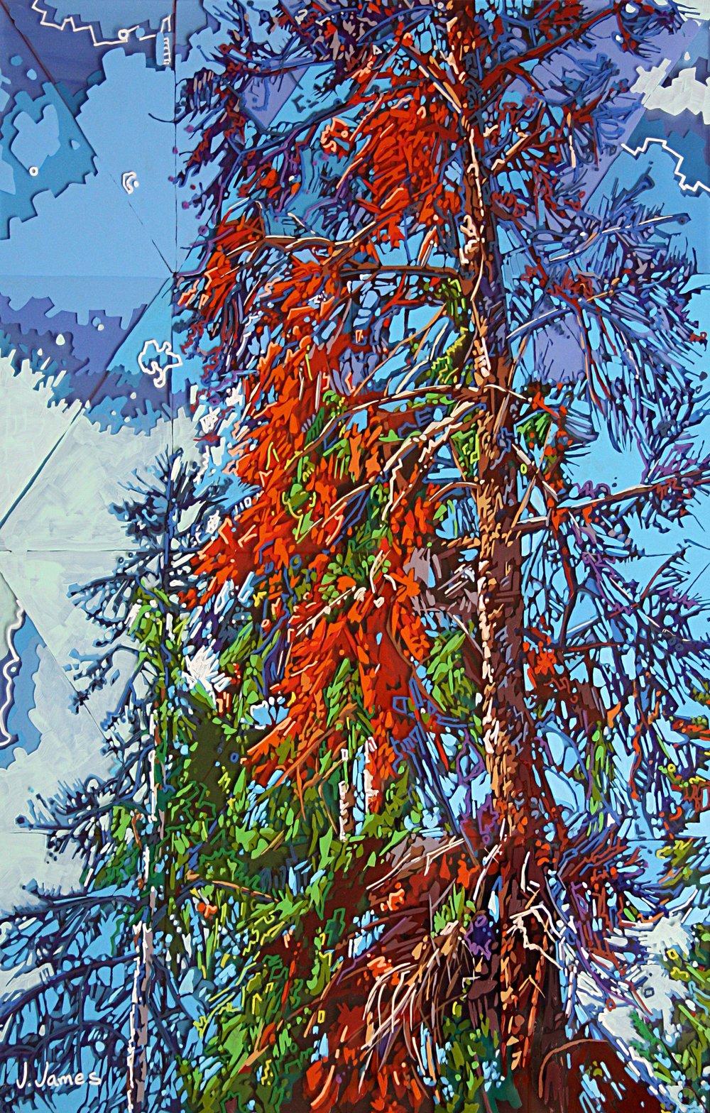 "Bird's Nest, 22.5"" x 14.5"" Acrylic on Multi-Panel Acrylic"