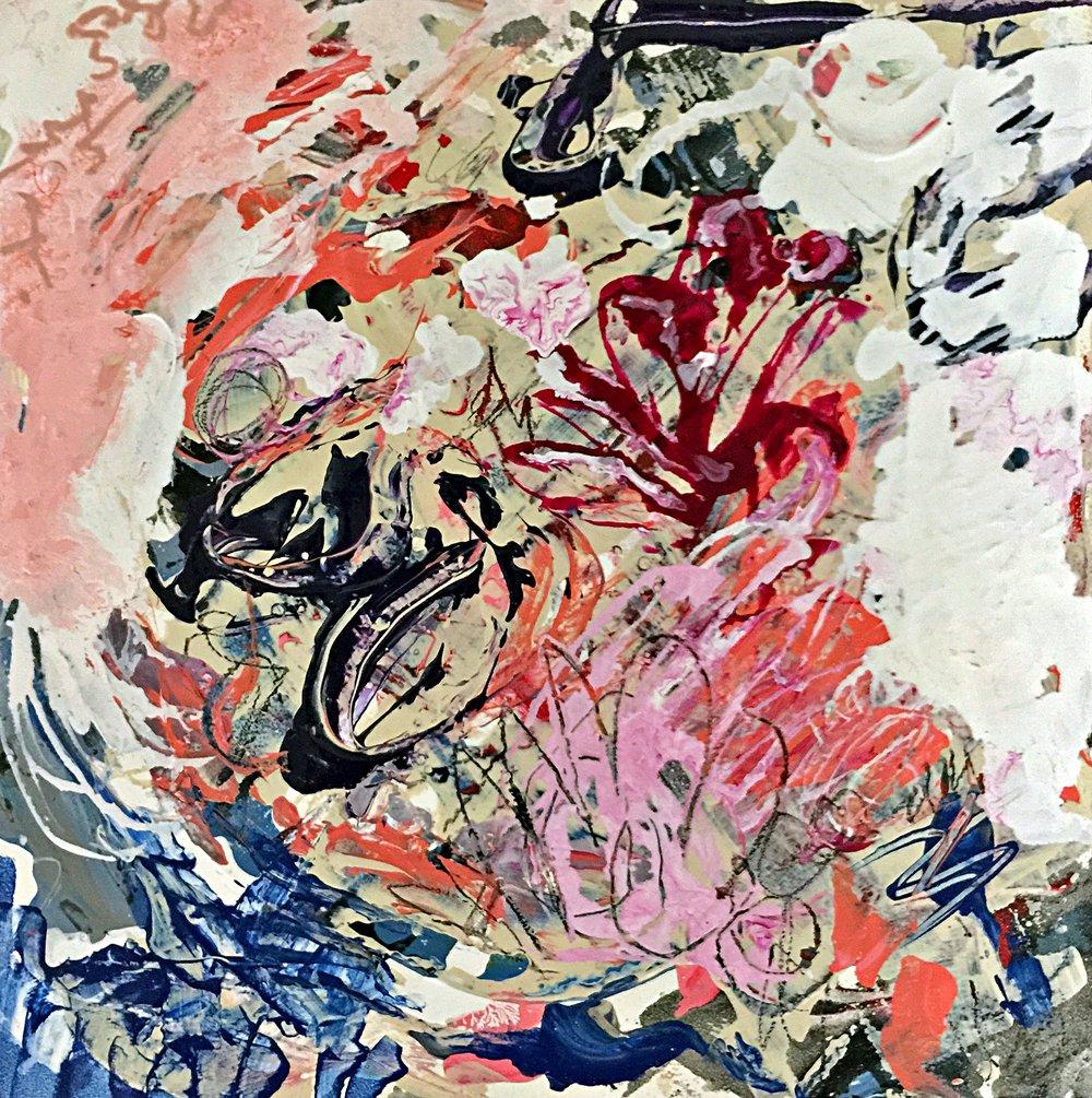 "In The Sun, 6"" x 6"" Acrylic on Panel"