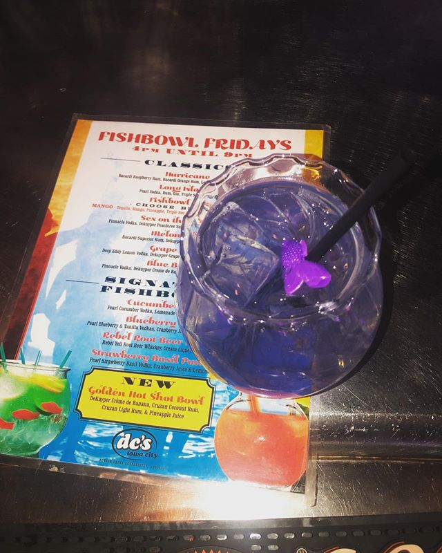 $4 fishbowls!💜 now-9pm