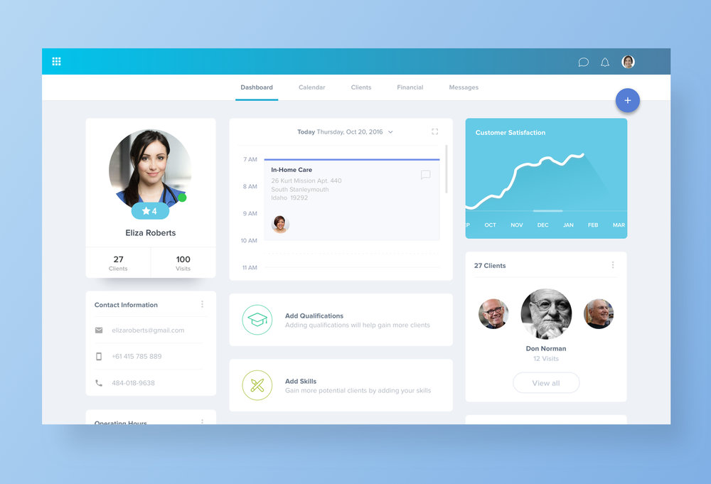 Health Dashboard Design