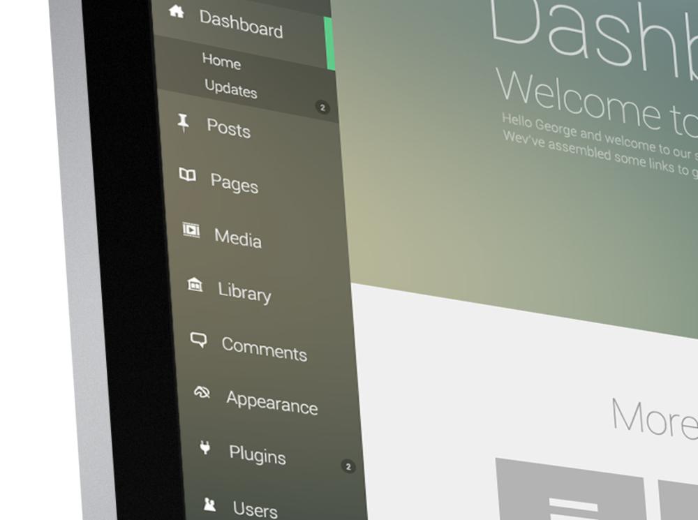 Wordpress Admin Theme Re-Design