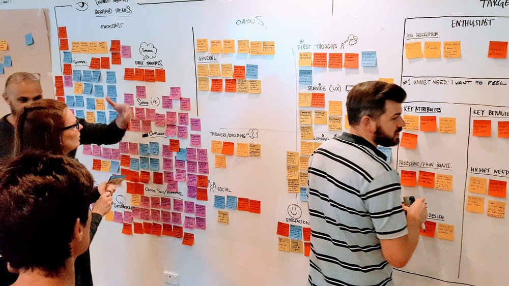 04: Making sense of raw data - Once our interviews were complete, I began to turn our findings into clear outcome, and demand-driven insights with the team involved making it clear into what the next steps would be via our design stage.