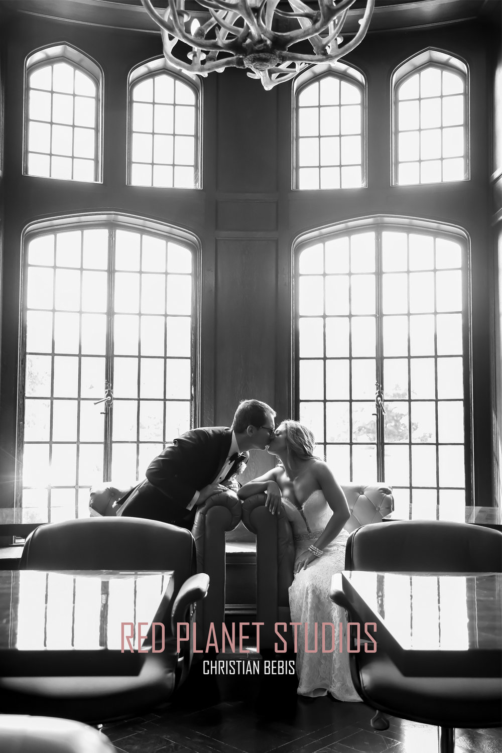 Photograph  by: Christian Bebis. This was a photograph for a wedding shot at Casa Loma in Toronto. Shot location: Casa Loma 'Blue Blood' Restaurant in Toronto, ON.