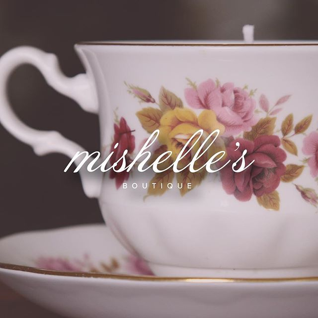 Take a look @mishellesboutique for one of a kind handmade teacup candles!  Photographs and Graphics By: RAW Focus Media