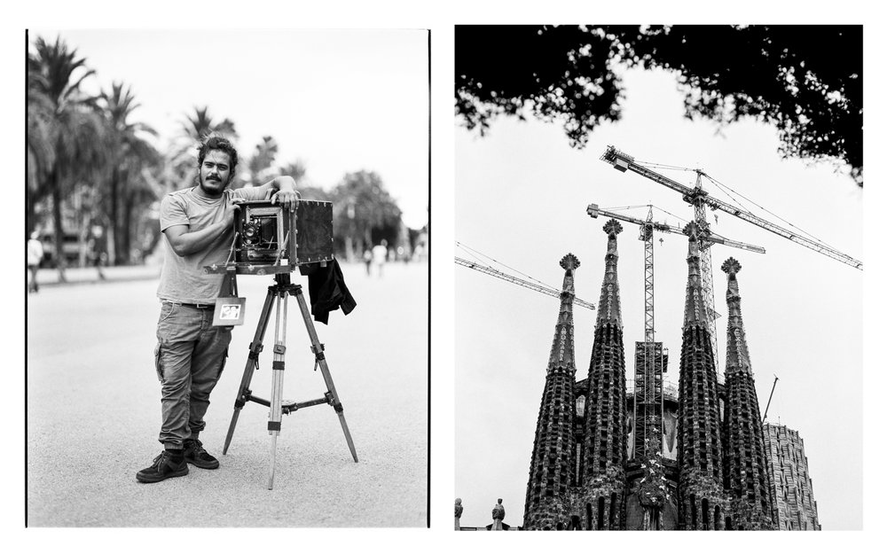 Street Photographer and Sagrada Familia Barcelona, Spain  2017