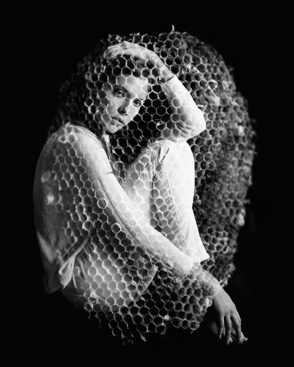 19_Jennifer_Wasp_Bee_Nest_Double Exposure_Mamiya_RB67_Ilford_HP5_Copyright_Taylor_Noel_Photography.jpg