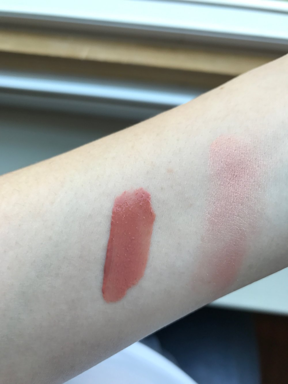 Too Faced Sweet Peach Blush and Gloss Swatches
