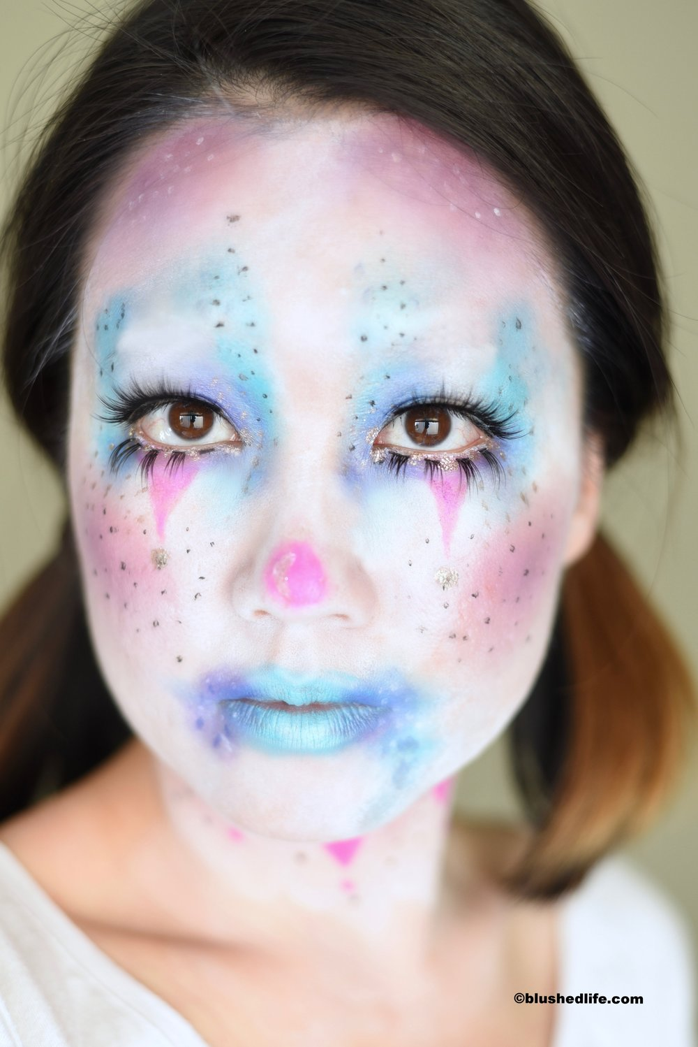 Cute Unicorn Cotton Candy Clown Makeup_DSC_9415.jpg
