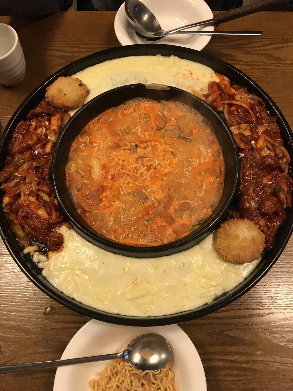 Budae Jjigae - @ Simpson Tang 355-21 Seogyo-dong, Mapo-gu, Seoul, South Korea