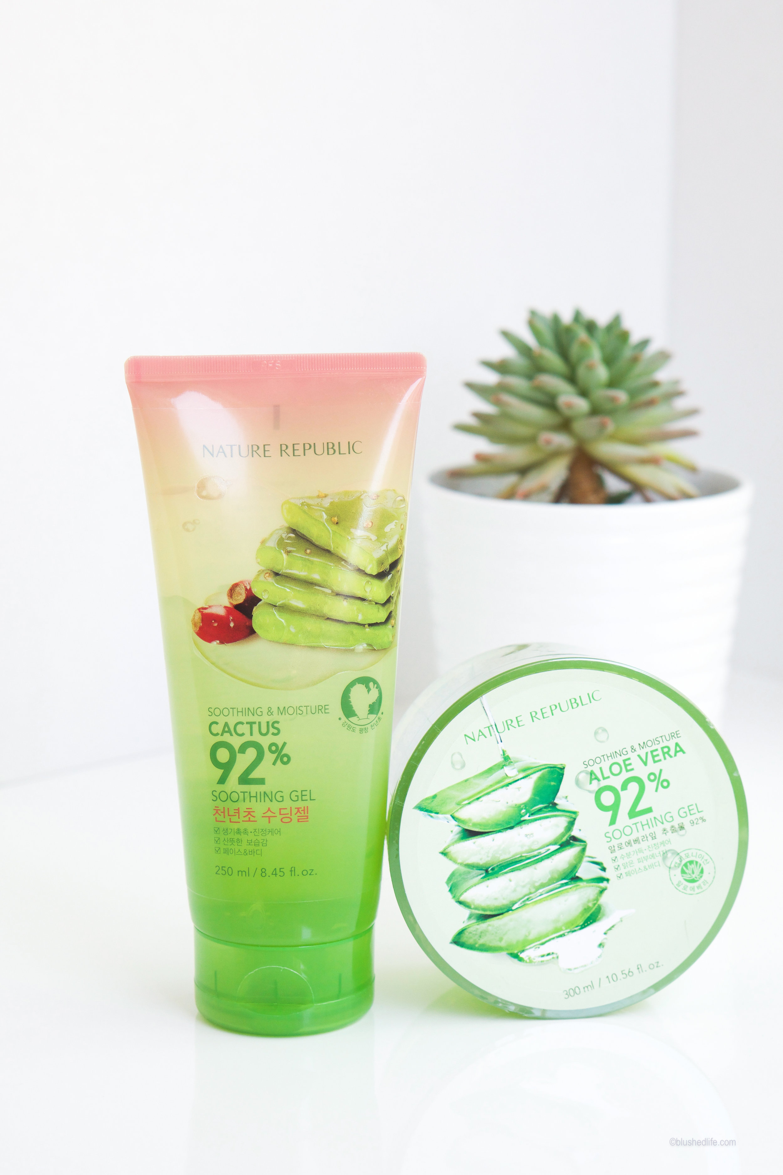 Nature Republic Aloe Vera Soothing Gel Vs Cactus K Beauty Jeju Fresh Shooting Review Blushed Life