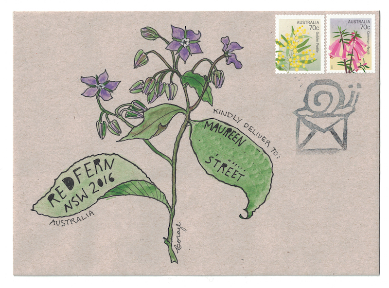 Mail-art from the old herbal — Naomi Loves